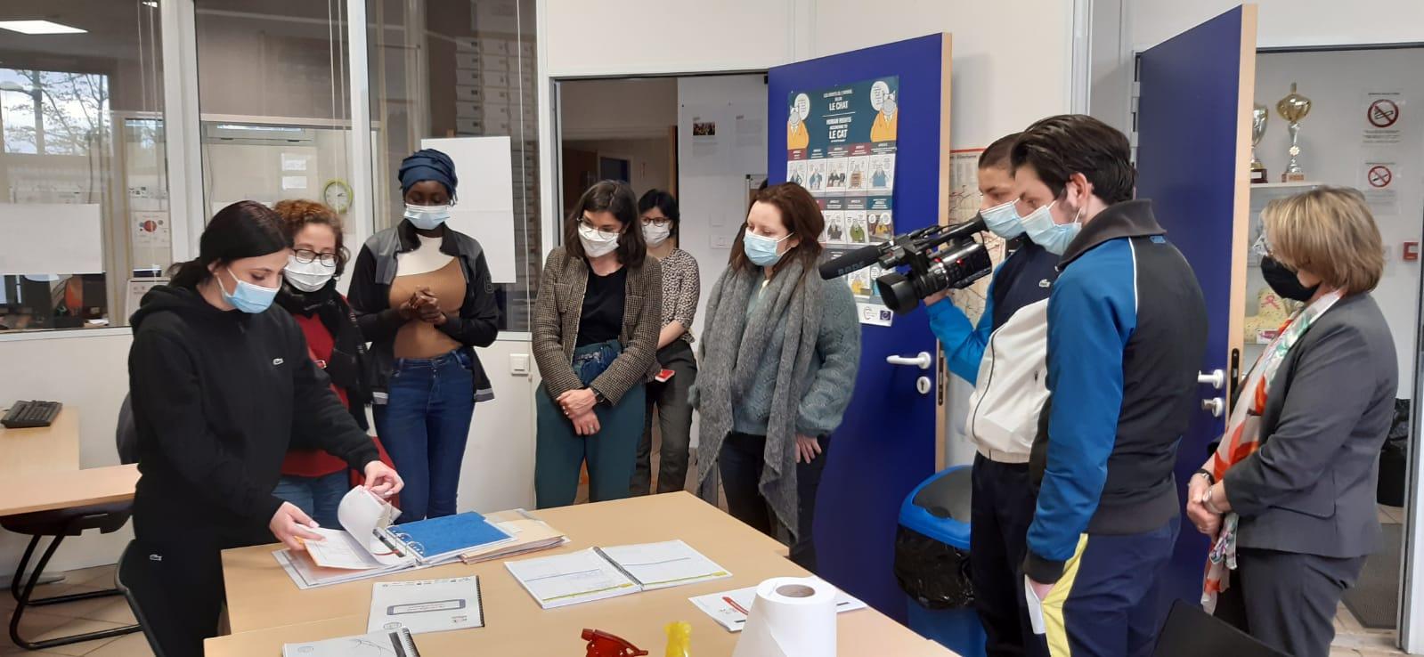 les stagiaires reçoivent la visite des élues de la métropole et de la ville de Lyon